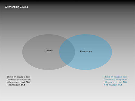 Overlapping Circles Diagrams, Slide 9, 00064, Business Models — PoweredTemplate.com