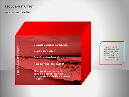 Red Ocean Strategy Diagram, Slide 11, 00065, Business Models — PoweredTemplate.com