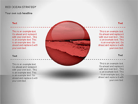 Red Ocean Strategy Diagram, Slide 2, 00065, Business Models — PoweredTemplate.com