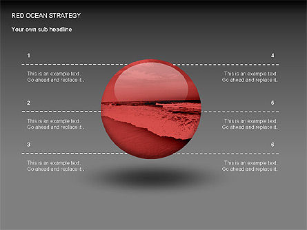 Red Ocean Strategy Diagram, Slide 3, 00065, Business Models — PoweredTemplate.com