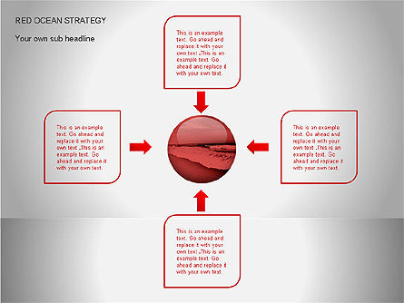 Red Ocean Strategy Diagram, Slide 7, 00065, Business Models — PoweredTemplate.com