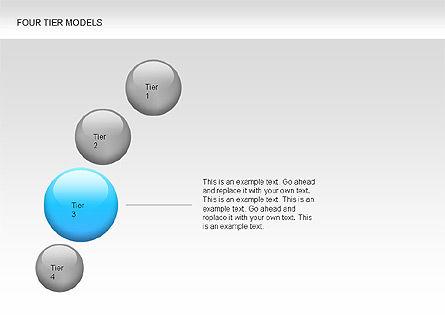 Four Tier Model Diagrams, Slide 11, 00067, Process Diagrams — PoweredTemplate.com