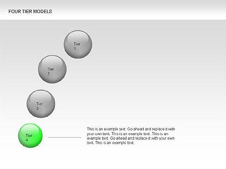 Four Tier Model Diagrams, Slide 12, 00067, Process Diagrams — PoweredTemplate.com