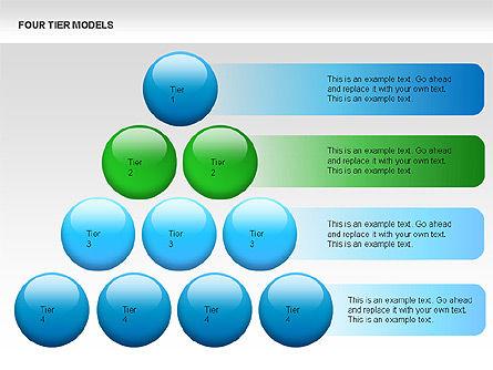 Four Tier Model Diagrams, Slide 13, 00067, Process Diagrams — PoweredTemplate.com
