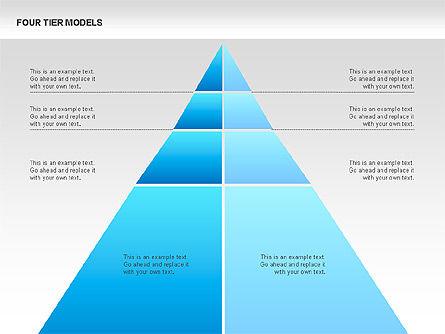 Four Tier Model Diagrams, Slide 14, 00067, Process Diagrams — PoweredTemplate.com