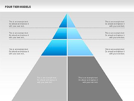 Four Tier Model Diagrams, Slide 15, 00067, Process Diagrams — PoweredTemplate.com