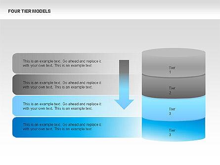 Four Tier Model Diagrams, Slide 2, 00067, Process Diagrams — PoweredTemplate.com