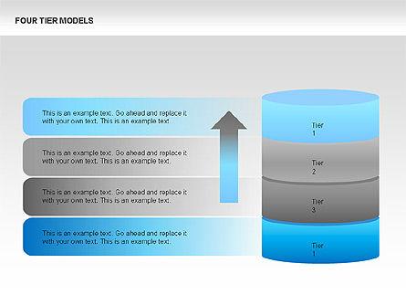 Four Tier Model Diagrams, Slide 3, 00067, Process Diagrams — PoweredTemplate.com