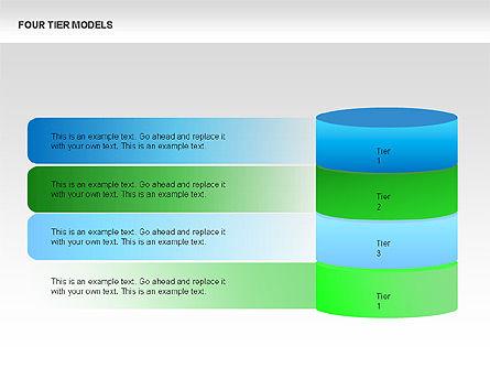 Four Tier Model Diagrams, Slide 4, 00067, Process Diagrams — PoweredTemplate.com