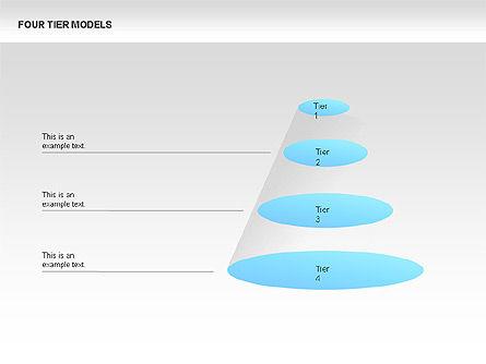 Four Tier Model Diagrams, Slide 5, 00067, Process Diagrams — PoweredTemplate.com
