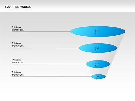 Four Tier Model Diagrams, Slide 6, 00067, Process Diagrams — PoweredTemplate.com