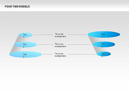 Four Tier Model Diagrams, Slide 7, 00067, Process Diagrams — PoweredTemplate.com