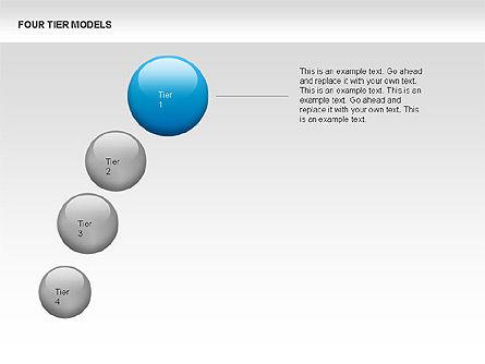 Four Tier Model Diagrams, Slide 9, 00067, Process Diagrams — PoweredTemplate.com