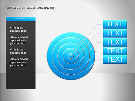 Data Driven Diagrams, Slide 19, 00068, Pie Charts — PoweredTemplate.com