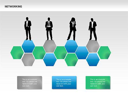Network Diagrams, Slide 13, 00069, Graph Charts — PoweredTemplate.com