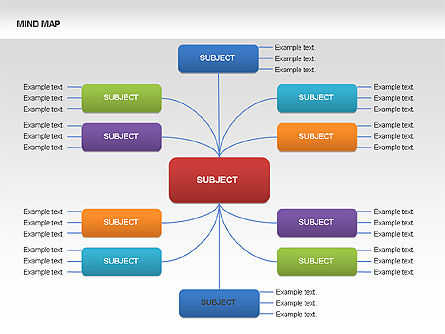 Mind Map Charts, Slide 11, 00070, Graph Charts — PoweredTemplate.com