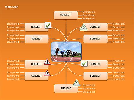 Mind Map Charts, Slide 12, 00070, Graph Charts — PoweredTemplate.com
