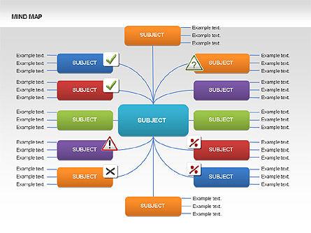 Mind Map Charts, Slide 13, 00070, Graph Charts — PoweredTemplate.com