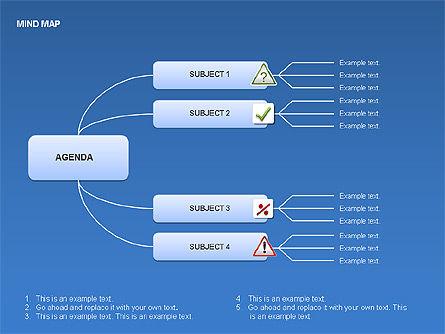 Mind Map Charts, Slide 15, 00070, Graph Charts — PoweredTemplate.com