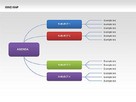 Mind Map Charts, Slide 5, 00070, Graph Charts — PoweredTemplate.com