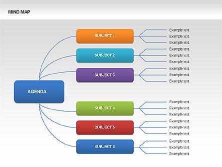 Mind Map Charts, Slide 6, 00070, Graph Charts — PoweredTemplate.com