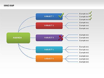 Mind Map Charts, Slide 8, 00070, Graph Charts — PoweredTemplate.com