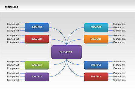 Mind Map Charts, Slide 9, 00070, Graph Charts — PoweredTemplate.com