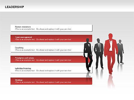 Leadership Shapes, Slide 7, 00071, Shapes — PoweredTemplate.com