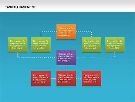 Task Management Charts, Slide 12, 00072, Organizational Charts — PoweredTemplate.com