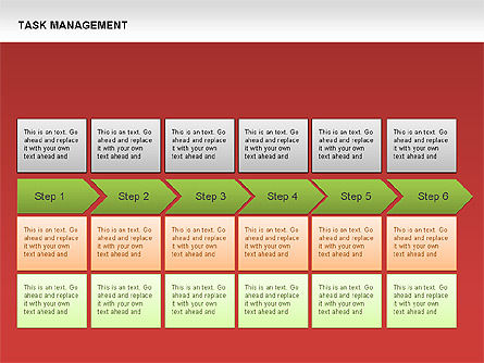Task Management Charts, Slide 7, 00072, Organizational Charts — PoweredTemplate.com
