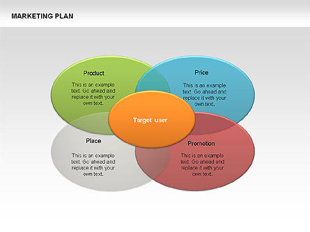 Marketing Plan Diagram, 00073, Business Models — PoweredTemplate.com