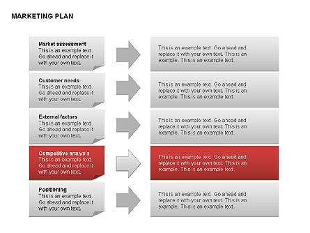 Marketing Plan Diagram, Slide 10, 00073, Business Models — PoweredTemplate.com