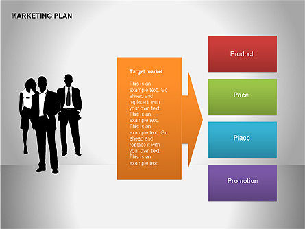 Marketing Plan Diagram, Slide 13, 00073, Business Models — PoweredTemplate.com