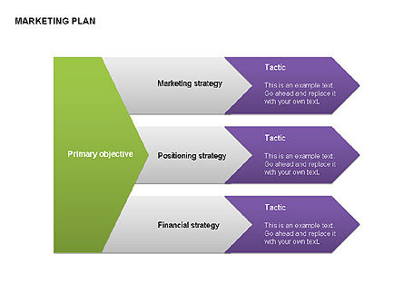 Marketing Plan Diagram, Slide 14, 00073, Business Models — PoweredTemplate.com