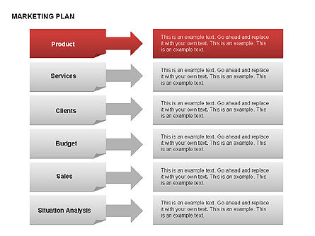 Marketing Plan Diagram, Slide 15, 00073, Business Models — PoweredTemplate.com