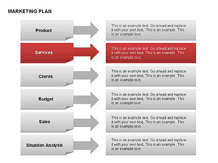 Marketing Plan Diagram, Slide 16, 00073, Business Models — PoweredTemplate.com