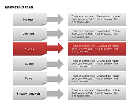 Marketing Plan Diagram, Slide 17, 00073, Business Models — PoweredTemplate.com