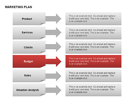 Marketing Plan Diagram, Slide 18, 00073, Business Models — PoweredTemplate.com