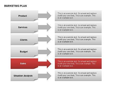Marketing Plan Diagram, Slide 19, 00073, Business Models — PoweredTemplate.com