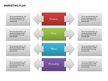 Marketing Plan Diagram, Slide 2, 00073, Business Models — PoweredTemplate.com