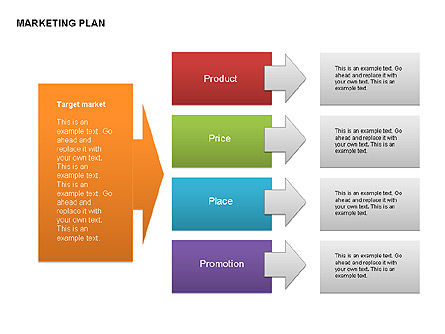 Marketing Plan Diagram, Slide 3, 00073, Business Models — PoweredTemplate.com