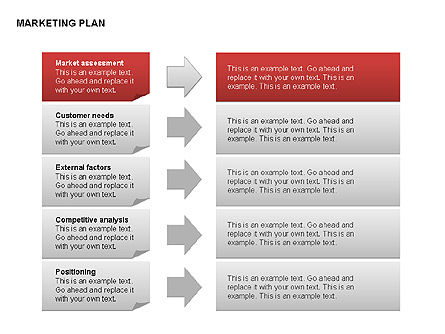 Marketing Plan Diagram, Slide 7, 00073, Business Models — PoweredTemplate.com