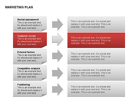 Marketing Plan Diagram, Slide 8, 00073, Business Models — PoweredTemplate.com