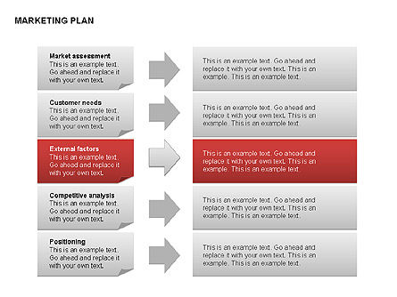 Marketing Plan Diagram, Slide 9, 00073, Business Models — PoweredTemplate.com