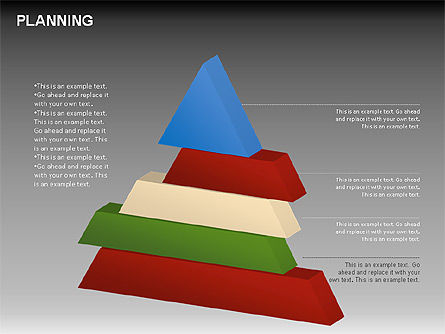 Planning Diagrams, Slide 10, 00074, Process Diagrams — PoweredTemplate.com