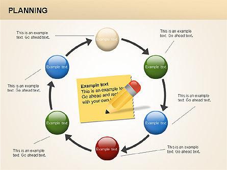 Planning Diagrams, Slide 12, 00074, Process Diagrams — PoweredTemplate.com
