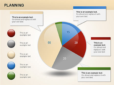Planning Diagrams, Slide 13, 00074, Process Diagrams — PoweredTemplate.com