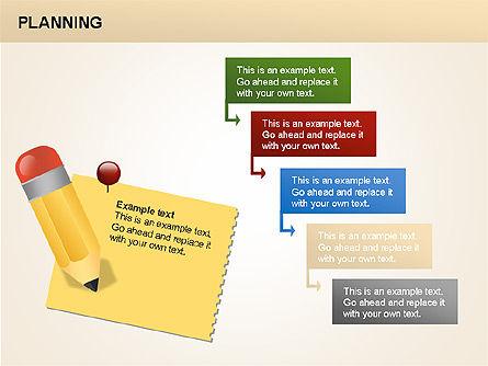 Planning Diagrams, Slide 14, 00074, Process Diagrams — PoweredTemplate.com