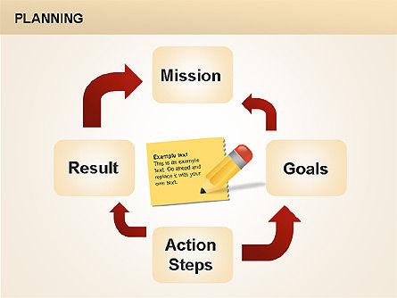 Planning Diagrams, Slide 15, 00074, Process Diagrams — PoweredTemplate.com