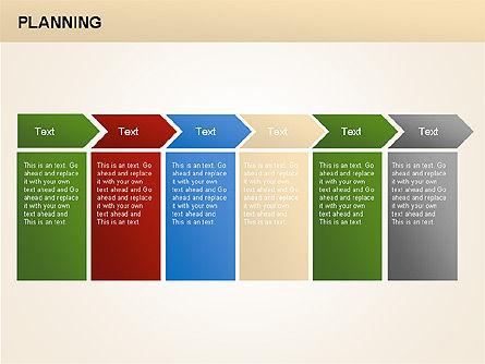 Planning Diagrams, Slide 6, 00074, Process Diagrams — PoweredTemplate.com